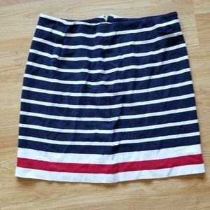 Banana republic striped mini skirt size 4.